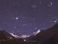 Etoile tr�s proche de la lune, nuit du 14 au 15 septembre 2014