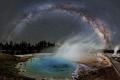 La Voie lact�e sur Yellowstone
