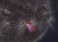 Eruption solaire au piqu� exceptionnel
