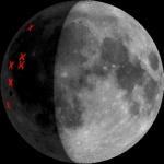 Météorites sur la Lune