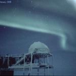 Une aurore au-dessus de l'Antarctique