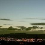 Vénus et Jupiter au-dessus de Belfast