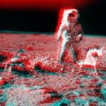 Apollo12: vue stéréoscopique près du cratère Surveyor