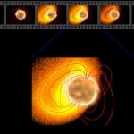 Un magnétar galactique projette une éruption géante
