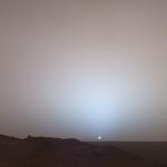 Coucher de Soleil sur le cratère Gusev