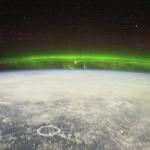 Une aurore vue de l'espace