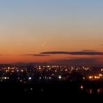 La comète MacNaught dans le ciel de Cracovie