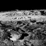 Vue du cratère Copernic par la sonde Lunar Orbiter