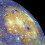 Le bassin Caloris en couleurs augmentées
