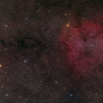 IC 1396 et les champs stellaires environnant