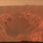 Le cratère Intrepid sur Mars