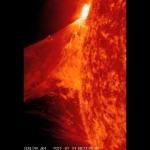 Une éruption solaire filmée par SDO