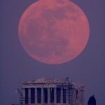 Super Lune sur le Parthénon