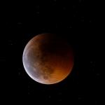 Lune éclipsée d'avant solstice
