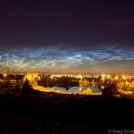 Nuages noctiluques sur Edmonton