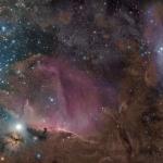 Orion en gaz, poussières et étoiles