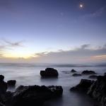 Vénus, la Lune et Jupiter sur la Réunion