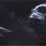 Traces de fusées dans la Voie lactée