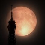 Superlune sur Paris