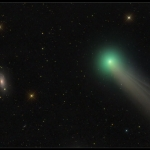 La comète Lovejoy et M63