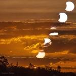 La Lune et le Soleil se couchent