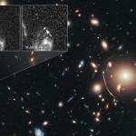 Supernova magnifiée par un amas