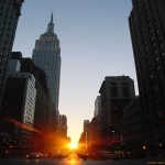 Manhattanhenge, un coucher de Soleil � New York