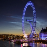 Nuages noctulescents sur Londres