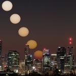 Lever de Soleil taché sur Brisbane