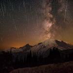 Etoiles filantes sur le Mont Rainier