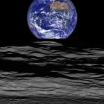 Coucher de Terre depuis l'orbite lunaire