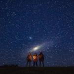 La galaxie d'Andromède se lève sur la Colombie