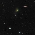 La comète, la chouette et la galaxie