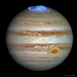 Aurores polaires sur Jupiter