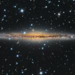 NGC 891 vue par la tranche