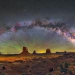 La Voie lactée au-dessus de Monument Valley