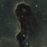 Monstre de poussière dans IC 1396