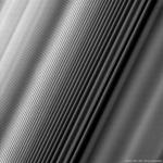 Ondulations dans les anneaux de Saturne