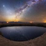 Ciel étoilé sur lagune