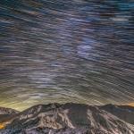 Traînées d'étoiles au massif de l'Alborz
