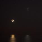Réflexions de la Lune et de Vénus