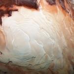 Couches de matières au pôle sud de Mars
