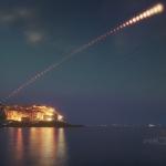 Eclipse de Lune au-dessus du Golfe des poètes