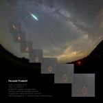Une étoile filante au matin du 10 septembre