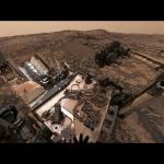 La vue de Curiosity depuis Vera Rubin Ridge