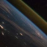 Lancement d'une fusée, vue de la Station Spatiale Internationale