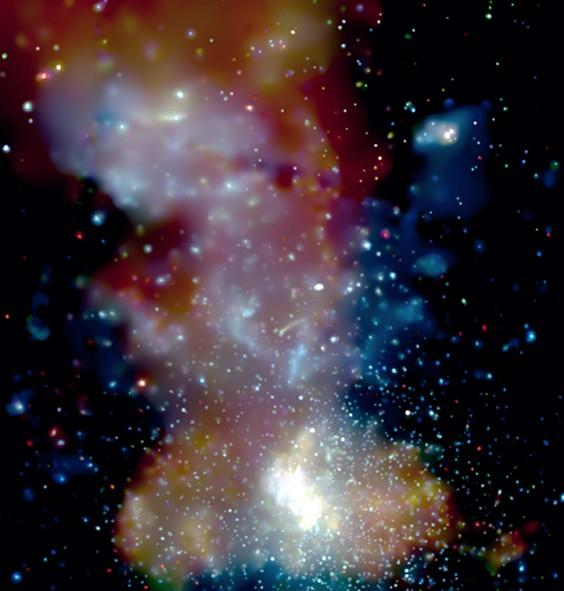 Amas d'étoiles dans le centre galactique