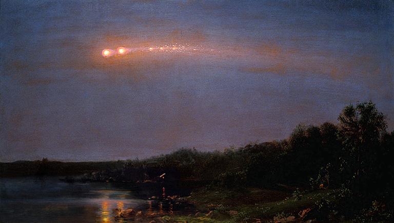 Boule de feu dans le ciel le 18 janvier 2018 en début de soirée