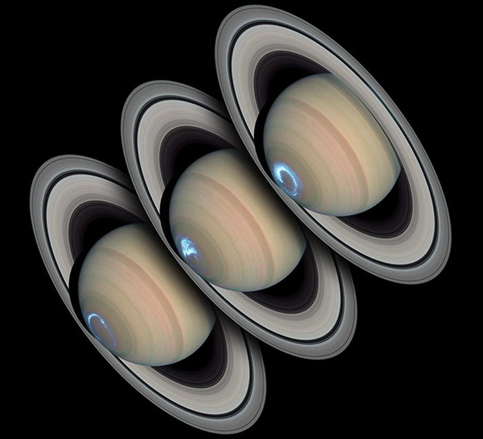 Aurore boréale sur Saturne? 140622