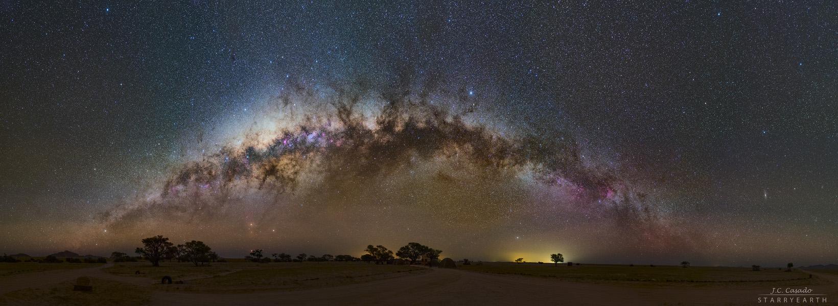 La Voie Lactée se couche